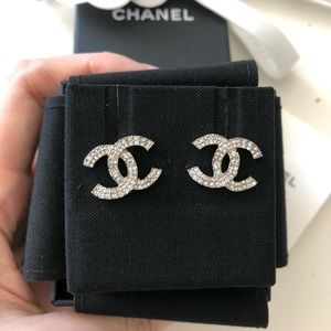 Chanel Classic CC Crystal Earrings
